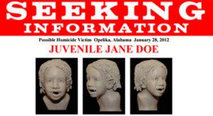 FBI Poster Jane Doe Lee County AL